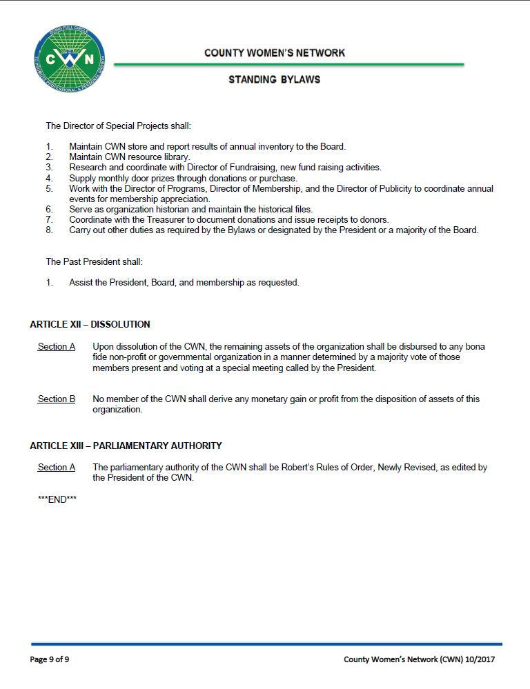 Bylaws page 9