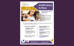 Get WIC Services By Phone Flyer