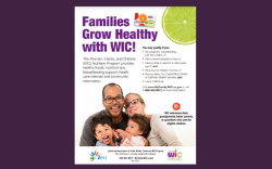 Families Grow Healthy with WIC Flyer